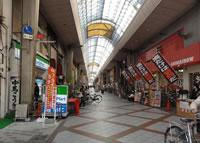 九条新道の商店街の写真