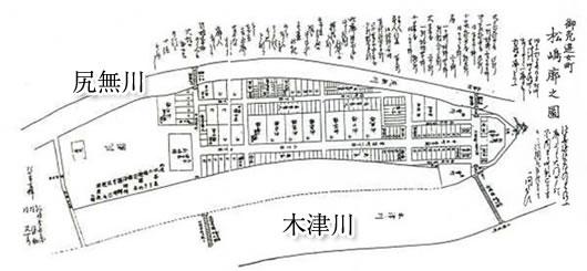 明治6年の松島遊廓図